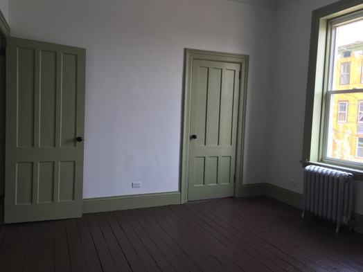 restored apartment Little Falls NY period doors hardware and flooring